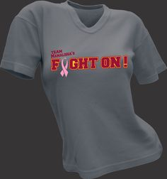 Ax Graphics created this shirt in support of a local elementary school teacher friend who is fighting Breast Cancer