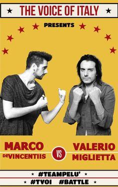 Battle #1 - The Voice of Italy 2015 - #tvoi #MarcoDeVincentiis vs #ValerioMiglietta #TeamPelù