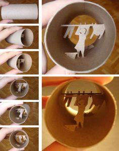 Toilet Paper Tube Sculptures