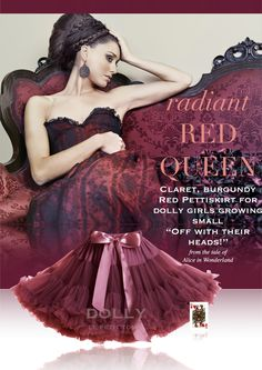 DOLLY by Le Petit Tom ® RED QUEEN pettiskirt ruby