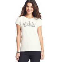 Jeweled Crown Tee - Be the princess that you are in this royally cute cotton must-have, flaunting a jeweled crown. Crew neck. Short sleeves.