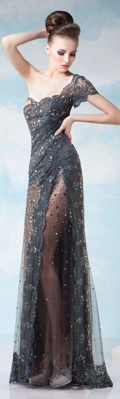 If super thin again & w/ a slender, simple, strappy (not chunky or bulky) shoe. Tony Chaaya Couture S/S 2015 jjdress.net