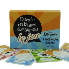 Jeu de 100 cartes pour découvrir la langue des signes de façon ludique entre amis ou en famille.    Jeu associé à l'application Elix.  Téléchargez les règles du jeu    De 7 à 77 ans