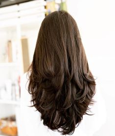 Haircuts For Long Hair With Layers, Haircuts Straight Hair, Haircut For Thick Hair, Layered Long Hair, Thick Long Hair, Long V Haircut, Long Hair Styles Straight, Long Haircuts For Women, Long Haircut Styles
