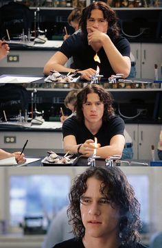 Heath Ledger (Patrick Verona) - 10 Things I Hate About You (1999) #williamshakespeare #thetamingoftheshrew