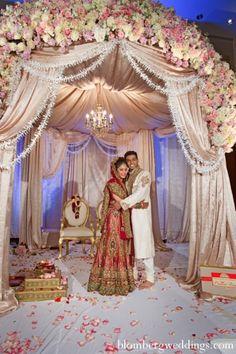 indian wedding ceremony bride groom mandap…
