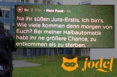Auf Jodel hat jemand einen Amoklauf an der Uni Trier angekündigt - Polizei verhaftet 23-Jährigen