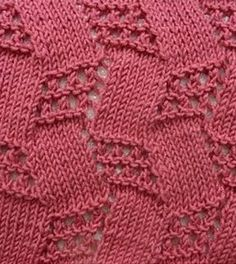 An amazing, trick of the eye, basket weave like  knit motif stitch