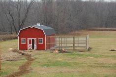 Huge Coop. Very traditional barn style. Fun!