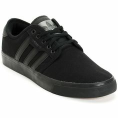 super popular 8f32e 81c83 Keep it low and sleek with the Adidas Seeley all black canvas skate shoe.  Skate
