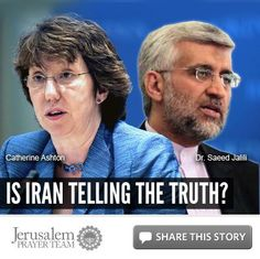 Is Iran Telling the Truth?    For more on this story, or to see our sources, visit: http://articles.jerusalemprayerteam.org/is-iran-telling-the-truth/    LIKE and SHARE this story to encourage others to defend the Jewish people and pray for peace in Jerusalem, and leave your PRAYERS and COMMENTS below.