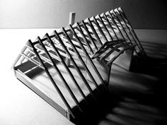 model of a roof structure by Erika Gábor Roof Structure, Furniture Plans, Erika, My Design, Woodworking, Model, Roof Design, Scale Model