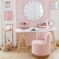 Bedroom Decor Discover Customize-It Simple A-Frame Desk Retro Home Decor, Home Office Decor, My New Room, Beautiful Bedrooms, Beautiful Mirrors, Home Collections, Girl Room, Room Inspiration, Bedroom Decor