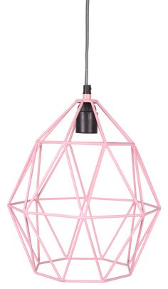 Wire Hanglamp pink - Kidsdepot - Hippe Accessoires, Verlichting -