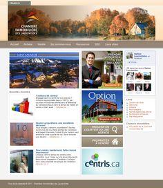 """Site web de la """"Chambre immobilière des Laurentides"""" utilisant la plateforme Wordpress. http://www.cilaurentides.ca/"""