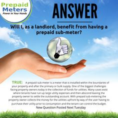 Answer 24: Will I, as a landlord, benefit from having a prepaid sub-meter?