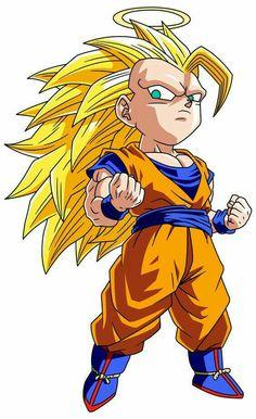 Akira Toriyama Dragon Ball Z fan art Goku Super Sayian 3 Chibi Goku, Anime Chibi, Akira, Chibi Marvel, Chibi Superhero, Dragon Ball Z Shirt, Ssj3, Chibi Characters, Kawaii