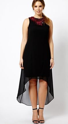 Shop ASOS BLACK FOR CURVE Exclusive Maxi Dress With Embellished Neck at ASOS. Plus Size Fashion Dresses, Plus Size Fashion For Women, Plus Size Maxi Dresses, Designer Kurtis, Chiffon, Estilo Fashion, Maternity Fashion, Pretty Dresses, Dress To Impress