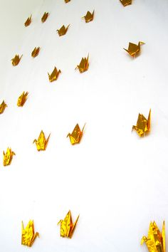 Gold Wedding Backdrop, Stringed Origami Cranes with Vanishing Stoppers Wedding Decor (100 birds)  Add a one-of-a-kind, handmade touch to your wedding! Stringed origami cranes are symbol of the wish for good luck and happiness. They send the message that you are wishing for the happily ever after with the very special person you will be united with. They are very traditional and elegant, making them an elegant and classy choice for your wedding decoration.