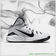 tenis barato de marca 653483-100 Branco/Preto Nike Hyperdunk 2014 TB
