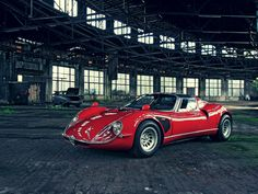The Alfa Romeo 33 Stradale is easily one of the top ten cars of all time, and is certainly...1967 Turin Motorshow...