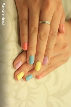 I've always loved nails in different colors.