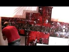 Abstraktes Triptychon in Schwarz, Rot und Gelb + Voice over - Gecko Bilder - YouTube