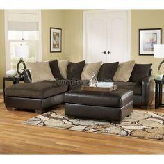 Gemini - Chocolate Sectional Living Room Set