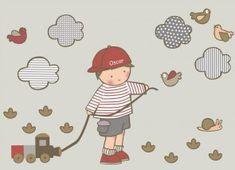 vinilos infantiles personalizados, habitacion bebé, cuartos infantiles