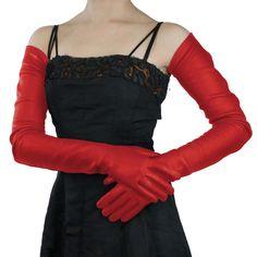 Full arm length Ferrari Red Leather Gloves- Silk Lined, 22-bt