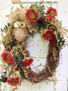 Hey, I found this really awesome Etsy listing at https://www.etsy.com/listing/200526314/large-fall-wreath-owl-wreath-autumn-oval
