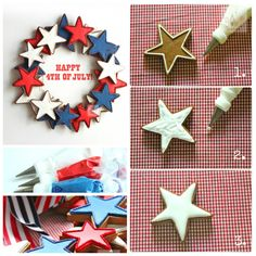 4th of july cookie wreath