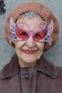 me as an old lady....I can only hope to be so fab
