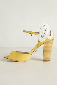 Lemon Daisy Heels - anthropologie.com
