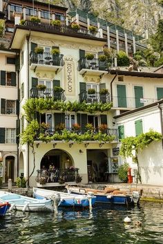 Lake Garda, Italy- must see the Italian Lakes before I join the choir. Places Around The World, Oh The Places You'll Go, Places To Travel, Places To Visit, Around The Worlds, Wonderful Places, Great Places, Beautiful Places, Croquis Architecture