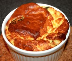 Cheese and Spinach souffle, nice and fluffy!