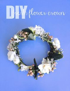 How To Make a DIY Fresh Flower Crown - Simple, Chic