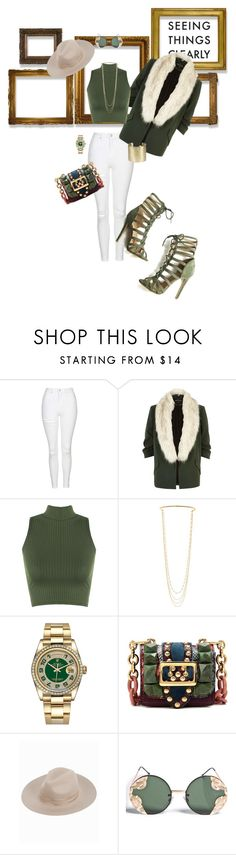"""""""Clear Your Mind"""" by foreverfreshie ❤ liked on Polyvore featuring Topshop, River Island, WearAll, Marc Jacobs, Rolex, Burberry, Spitfire and Parts of Four"""