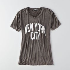 American Eagle Outfitters Don't Ask Why Graphic T-Shirt ($30) ❤ liked on Polyvore featuring tops, t-shirts, black, oversized black tee, black crew neck t shirt, black t shirt, black crew neck tee and crewneck t-shirt