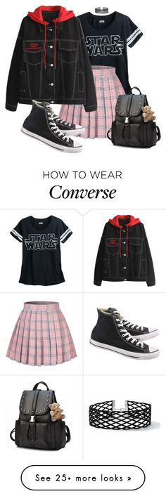 """everyday is the same, today too {i'm getting tired of it}"" by jinsxuls on Polyvore featuring Converse and Miss Selfridge"