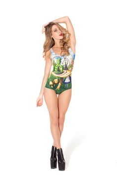 Alice and Caterpillar Swimsuit (Made to Order) $82.03 from blackmilkclothing.com @Black Milk