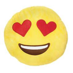 Two Sided Emoji Throw Pillow - Kiss/hear