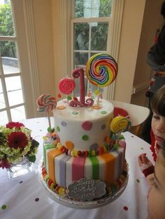 Happy 1st Birthday to our Sweet Shayne (in May)!   A CANDY CAKE!  So cute......