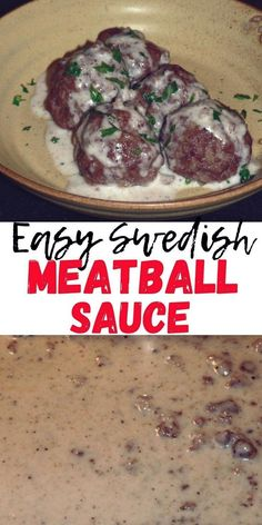Swedish Meatball Sauce Recipe, mouthwatering creamy meatball sauce Good Healthy Recipes, Easy Dinner Recipes, Swedish Meatball Sauce Recipe, Easy Recipes For Beginners, Easy Meals For Kids, Ground Beef Recipes, Sauce Recipes, Have Time, Gravy
