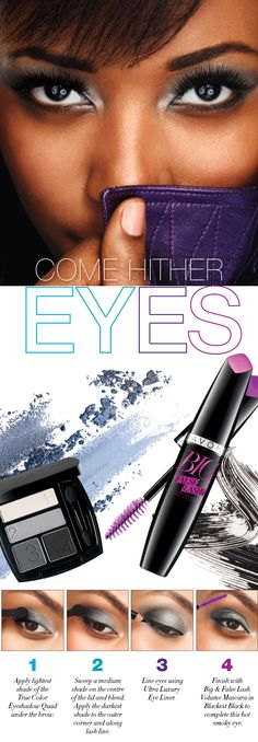 Get the look! Learn how to create come hither eyes! https://wkerkela.avonrepresentative.com