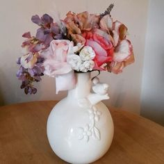 Pretty bird vase arrangement available exclusively at Pozy Posy