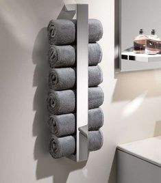 Keuco Edition 11 Towel holder for guest towels - Keuco Edition 11 Towel rack for guest towels, chrome - Laminate Flooring Colors, Space Saving Bathroom, Diy Accessoires, Salon Interior Design, Towel Rack Bathroom, Toilet Storage, Floor Colors, Guest Towels, Towel Rail