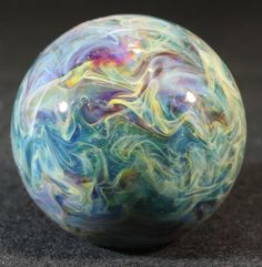 Juba Glass Contemporary Lampwork Borosilicate Marble Surface Work Blue SRA | eBay Good Old Games, Marble Bag, Working Blue, Glass Marbles, Glass Paperweights, Glass Ball, Glass Collection, Kugel, Hand Blown Glass