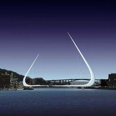 Bridge: Bergen Bridge Type: Footbridge (cable-stayed bridge) Location: Bergen, Norway Image: Sculpture Length: unknown Designer: Architect S...