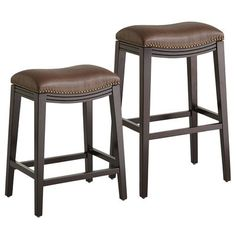 Halsted Backless Bar & Counterstools - Pecan